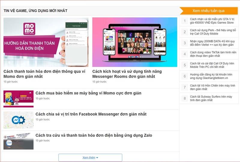 Chuyên trang Game App TGDĐ: Tải FREE trò chơi, ứng dụng, mẹo sử dụng