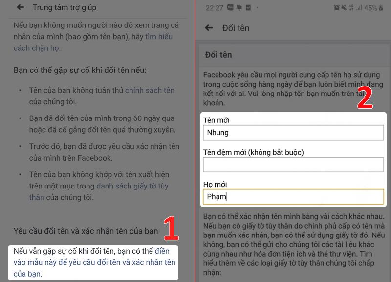 Hướng dẫn đổi tên Facebook bằng cách gửi ảnh giấy tờ tùy thân (3)