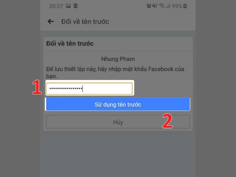 Hướng dẫn cách đổi lại tên cũ sau khi thực hiện đổi tên trên Facebook (3)