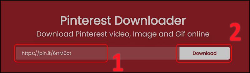 Vào trang web pinterestdownloader.com để download video từ Pinterest về máy tính