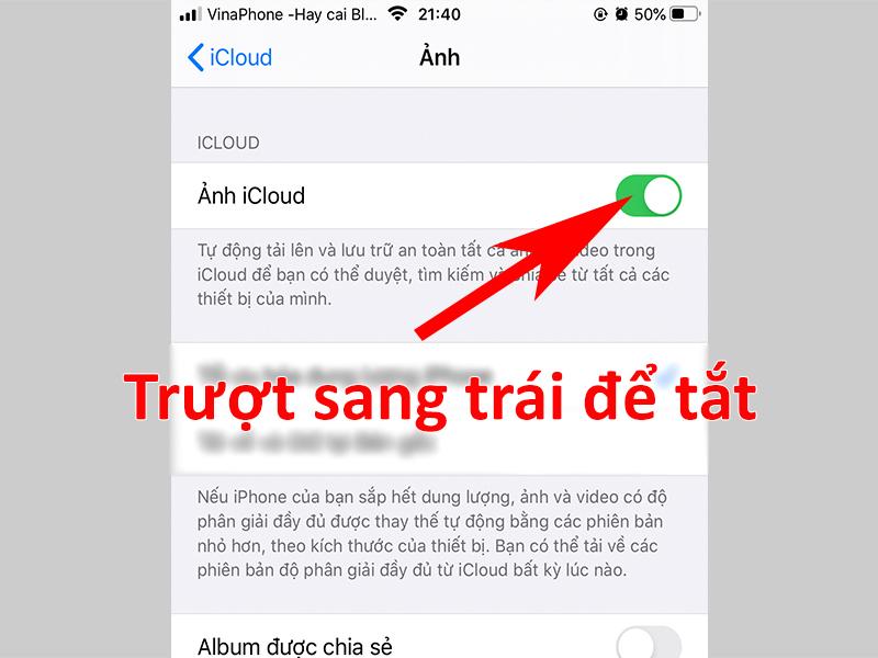 Cách tắt đồng bộ tài khoản iCloud, ảnh, danh bạ trên iPhone đơn giản