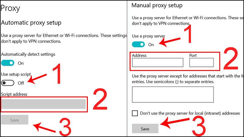 Bước 2: Thay đổi Proxy.