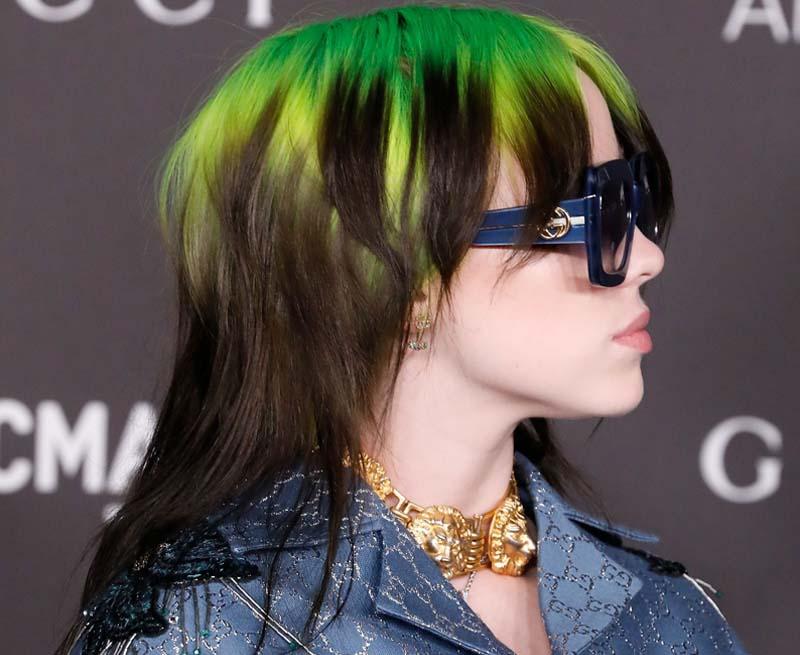 Kiểu tóc Mullet của ngôi sao US-UK Billie Eilish