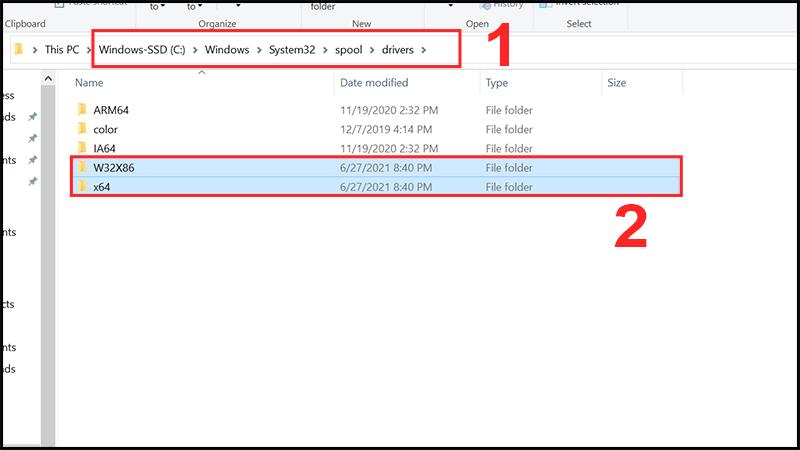 Chọn thư mục phù hợp với phiên bản Windows của bạn