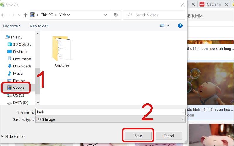 Lưu hình ảnh về máy tính