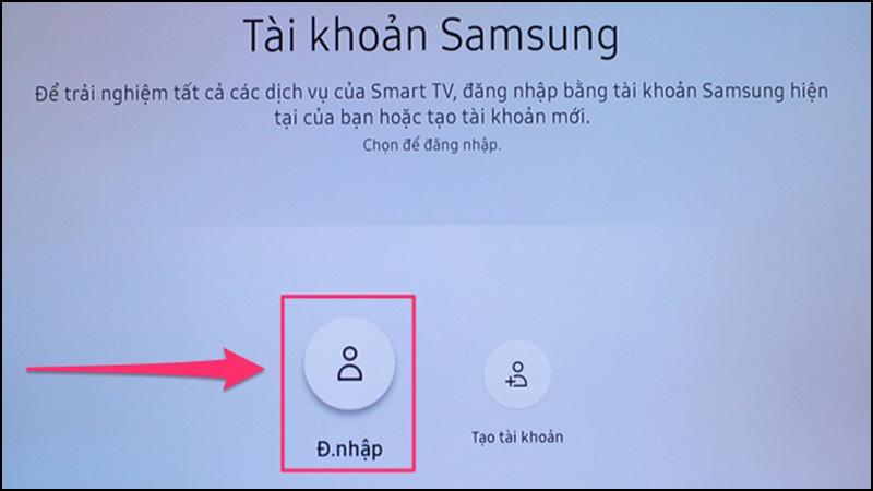 đăng nhập tài khoản Samsung Account để tải ứng dụng