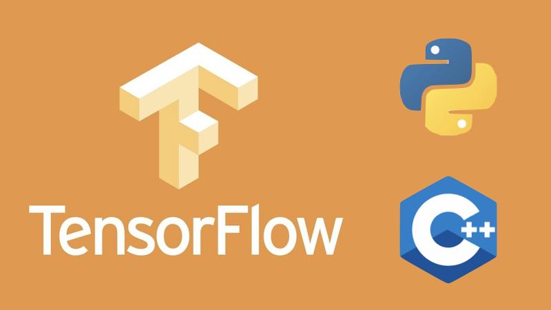 TensorFlow hỗ trợ Python, và xử lý thuật toán trên nền binary C++