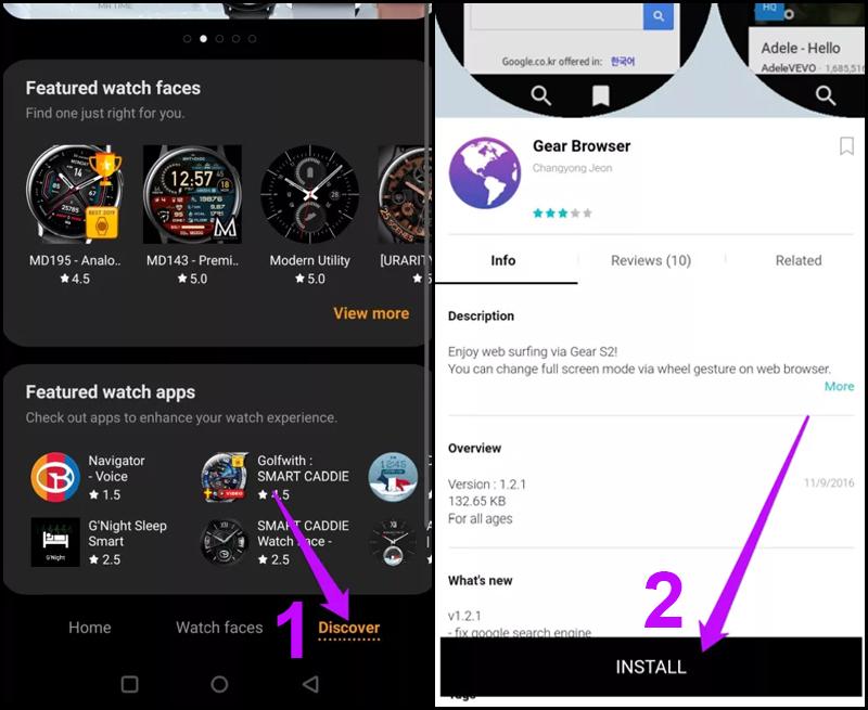 Cách thêm, gỡ ứng dụng trên Galaxy Watch Active 2 bằng điện thoại