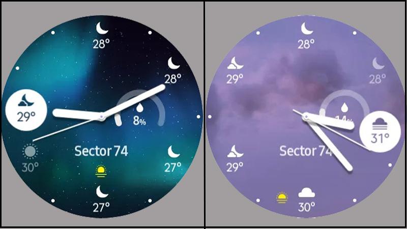 Hiển thị thời tiết