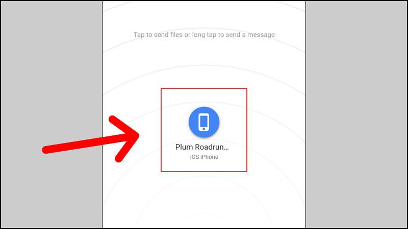 Gửi chọn thiết bị gửi file
