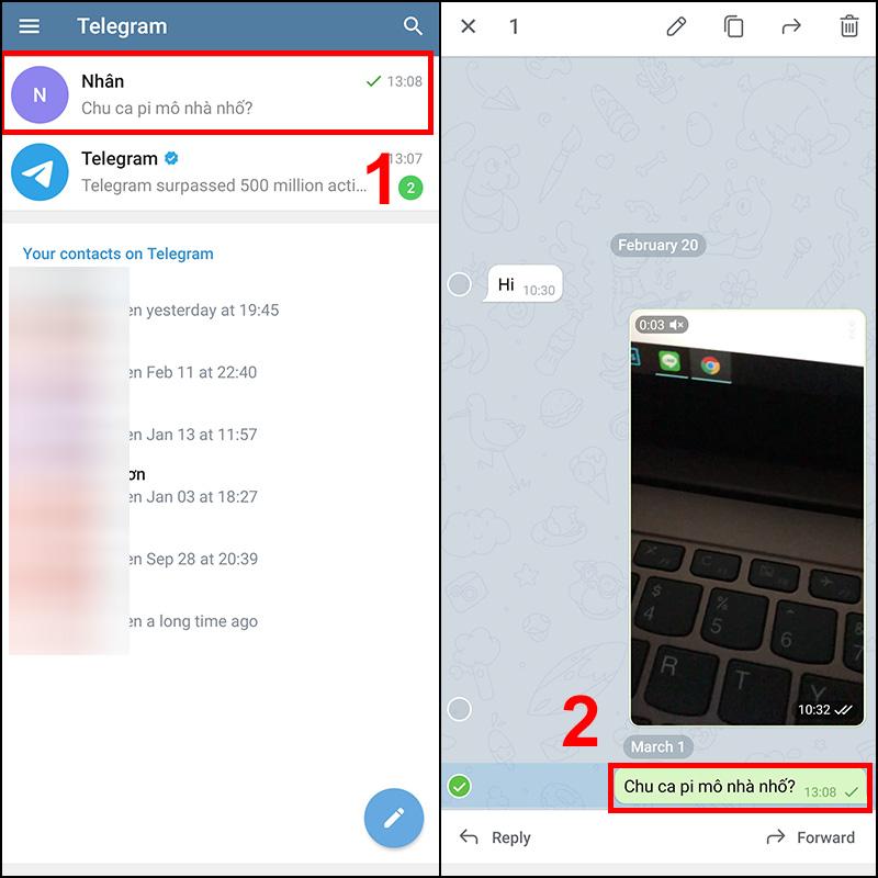 Cách sửa tin nhắn đã gửi trong Telegram trên điện thoại