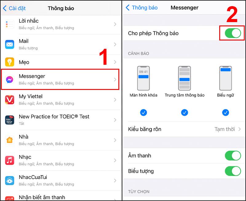 Cách tắt thông báo Facebook Messenger trên iPhone cực đơn giản