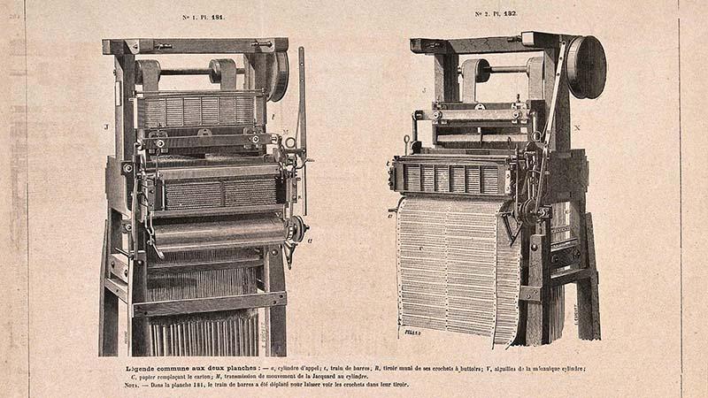 Chiếc máy dệt tự động của Joseph Marie Jacquard