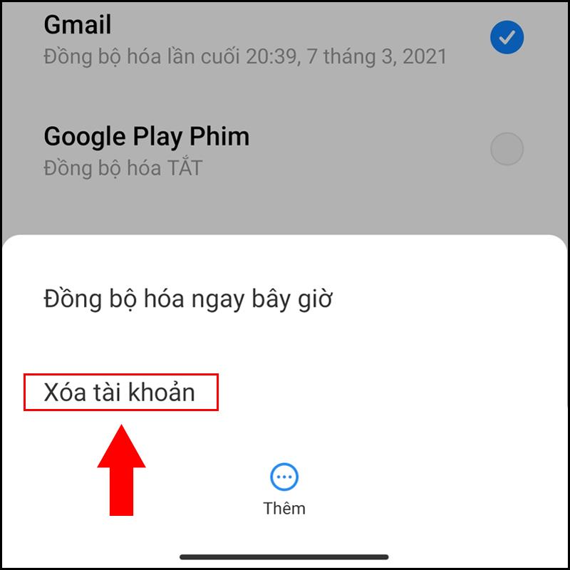 Gỡ và thêm lại tài khoản Google