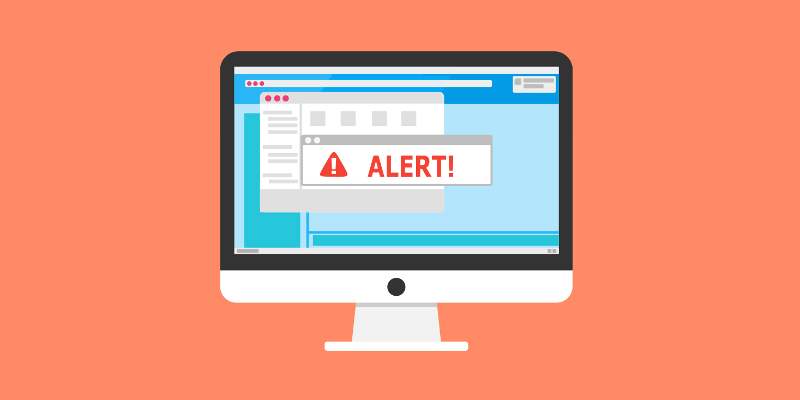 Bảng cửa sổ pop up thường là bước đầu tiên để Scareware dẫn dụ người dùng