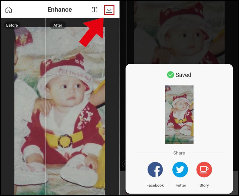 hình ảnh lưu ảnh ứng dụng remini