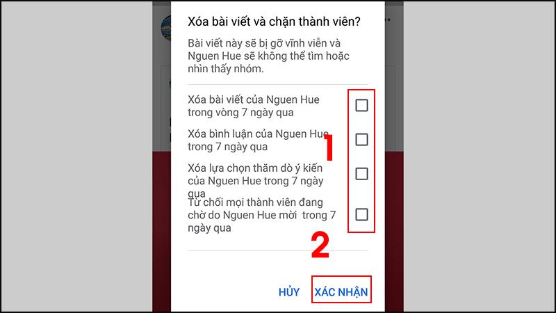 - Bước 4: Chọn các tùy chọn khác > Nhấn Xác nhận.