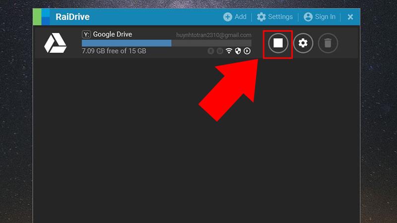 Cách kết nối/ngắt kết nối với Google Drive