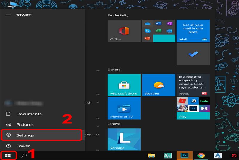 tắt hiệu ứng gương trong suốt cho máy tính Windows 10