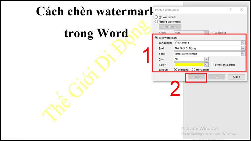 Watermark là gì? Có ý nghĩa gì? Cách chèn watermark trong Word