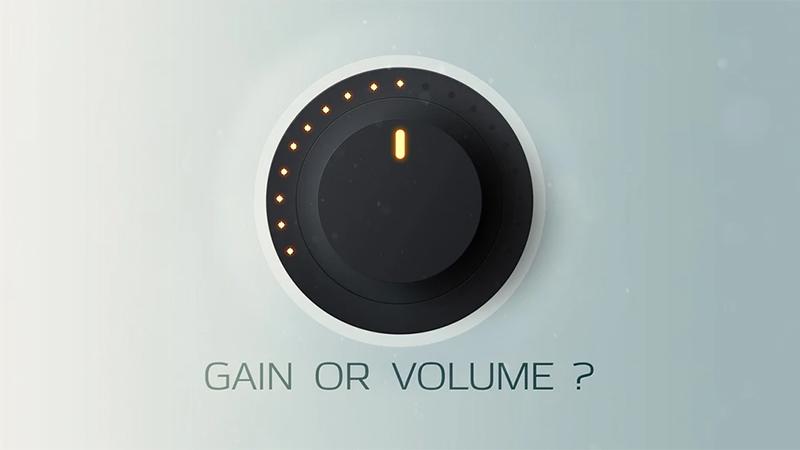 Chỉnh Gain và Volume