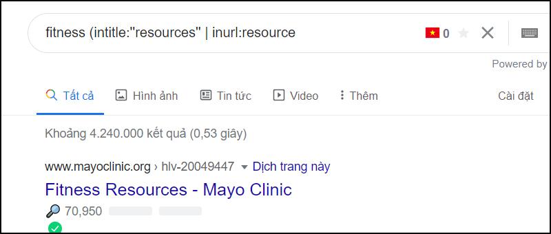 Tìm cơ hội trang tài nguyên