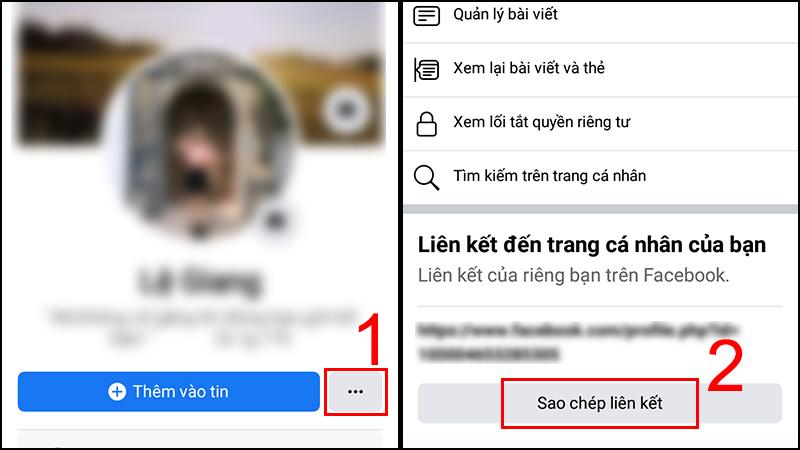 Cách gửi link cá nhân của mình qua tin nhắn Facebook Messenger