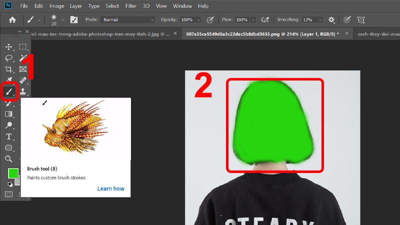 Cách thay đổi màu tóc trong Adobe Photoshop trên máy tính cực đơn giản
