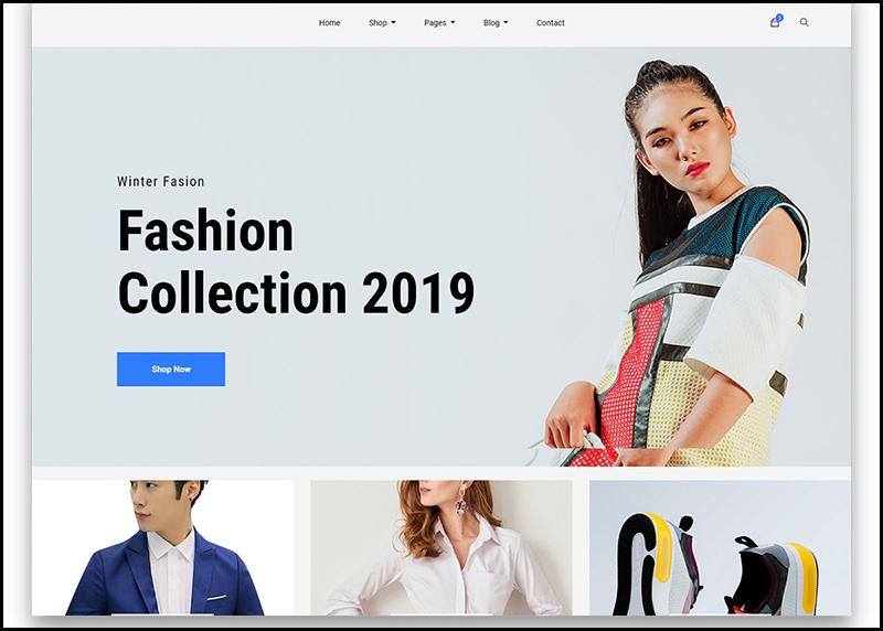Template mẫu website kinh doanh trong lĩnh vực thời trang