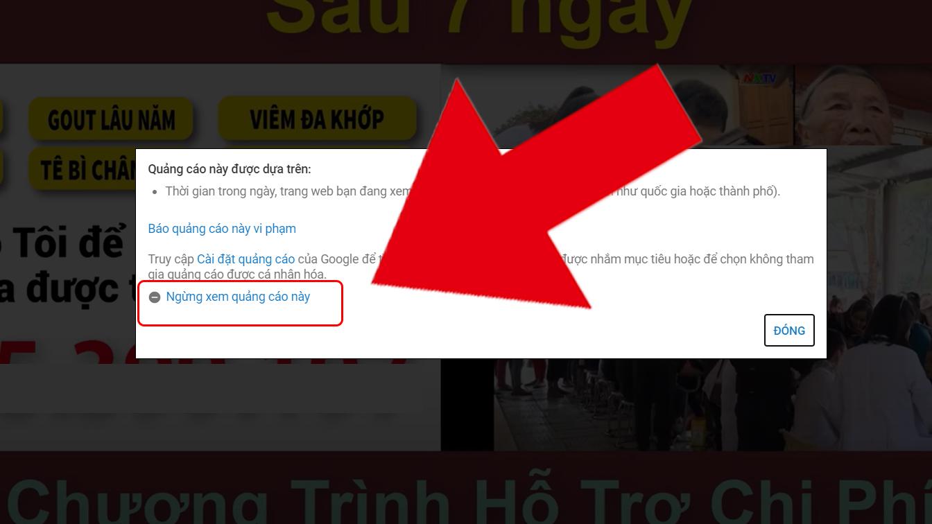 Giao diện bảng quảng cáo trên Youtube trình duyệt, với ứng dụng Youtube có thể khác chút nhưng nội dung không thay đổi