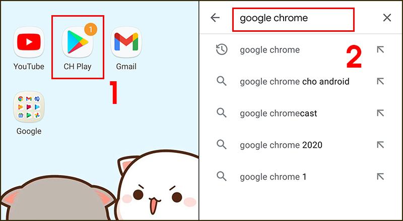 Tìm Google Chrome trong CH Play