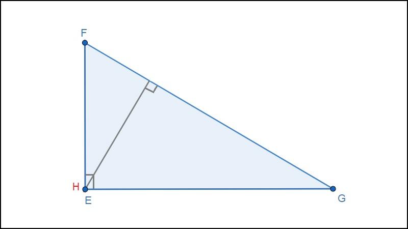 Trực tâm tam giác vuông trùng với góc vuông