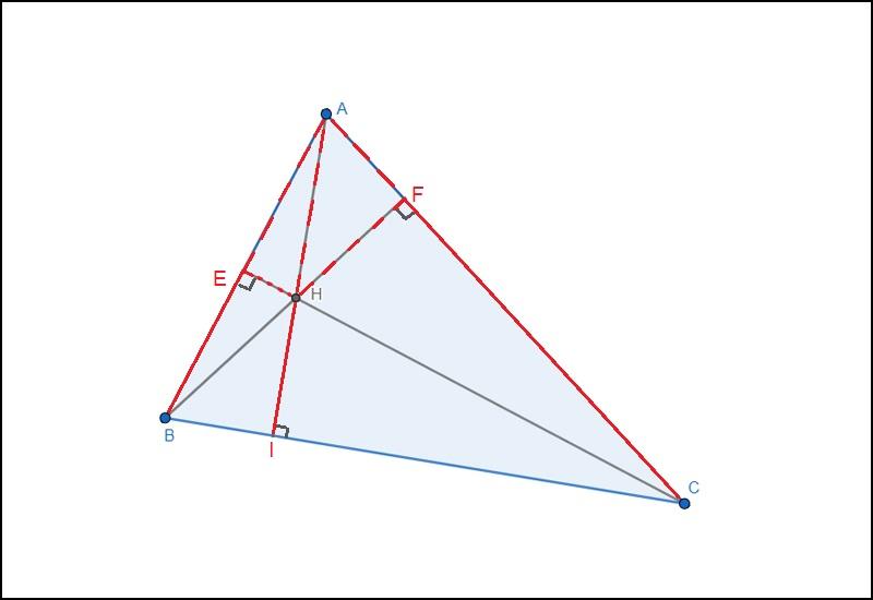 A là trực tâm của tam giác HBC