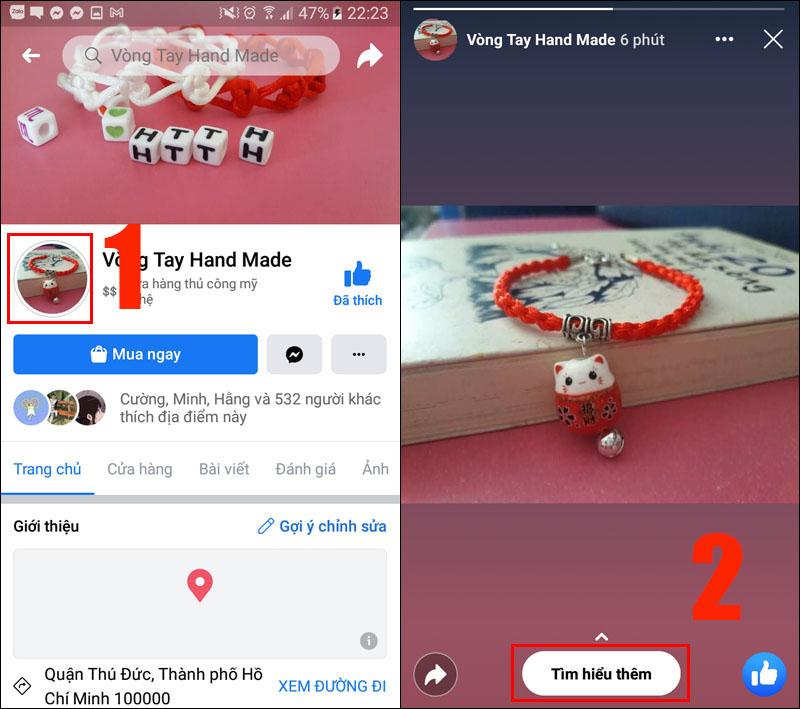 Sử dụng 1 tài khoản Facebook khác để xem story