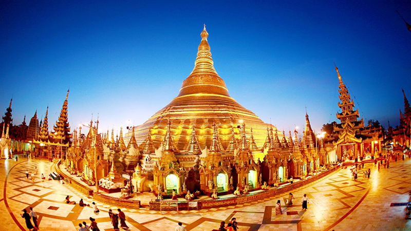 Chùa Vàng Shwedagon ở Myanmar