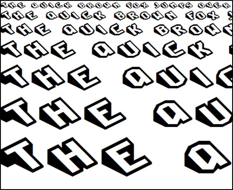 Font chữ 3D SLICE REGULAR