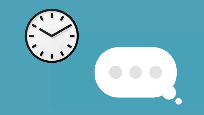 Hãy chọn thời điểm phù hợp để nhắn tin