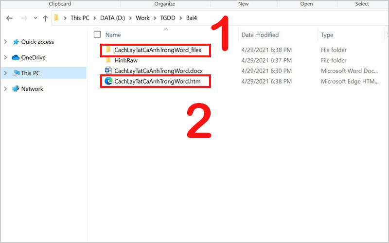 Hình file html và thư mục