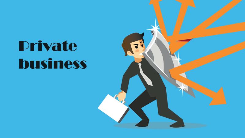 Hình minh họa khái niệm Private Business