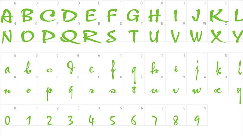 Font chữ thư pháp Thufap02