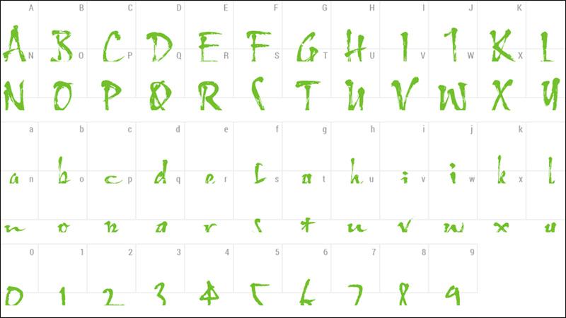 Font chữ thư pháp HL Thuphap 4BK