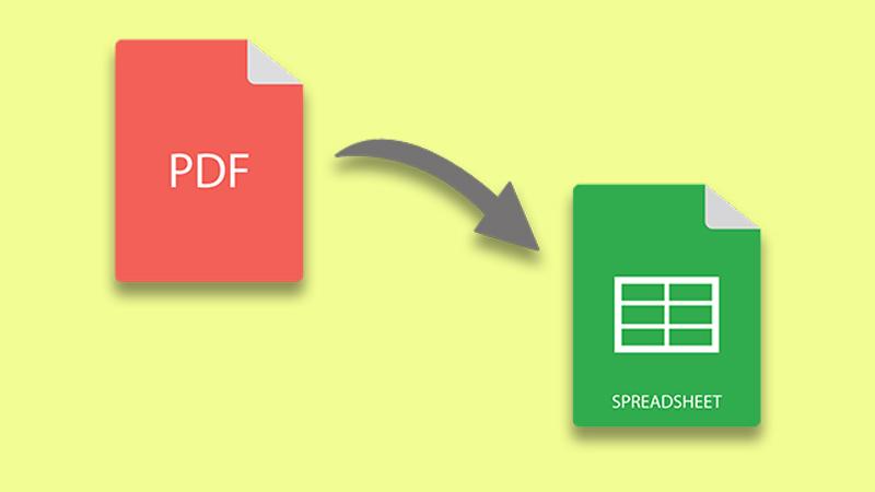 Chuyển file PDF sang Excel