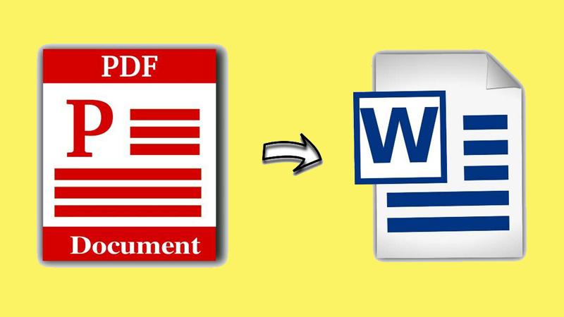 Chuyển file PDF sang Word