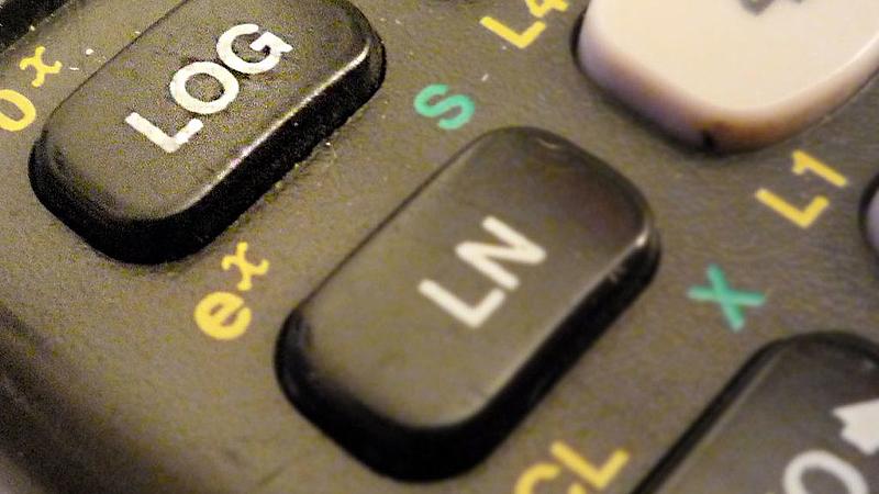Phím logarit trên máy tính cầm tay