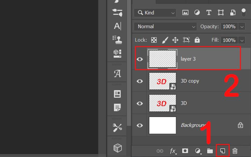 Nhấn tạo một layer mới tên layer 3