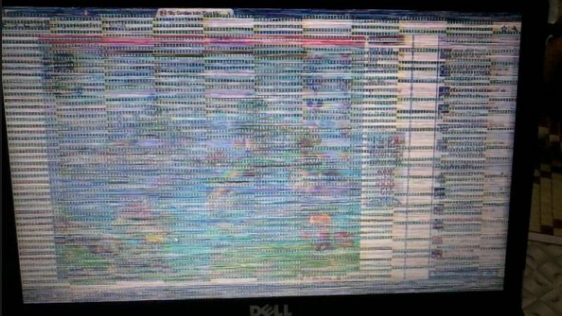 Lỗi màn hình sẽ khiến màn hình xuất hiện các sọc ngang, dọc