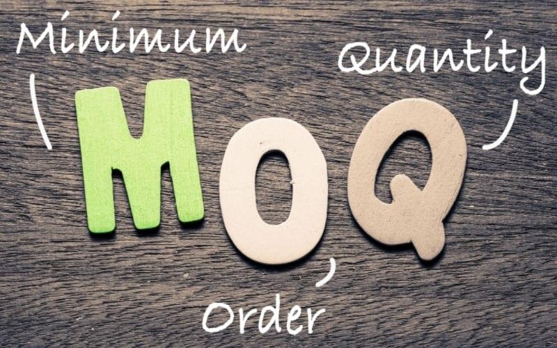 MOQ có nghĩa là số lượng đặt hàng tối thiểu