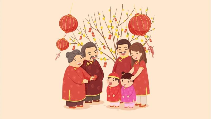 Tết Nguyên Đán là dịp gia đình đoàn tụ