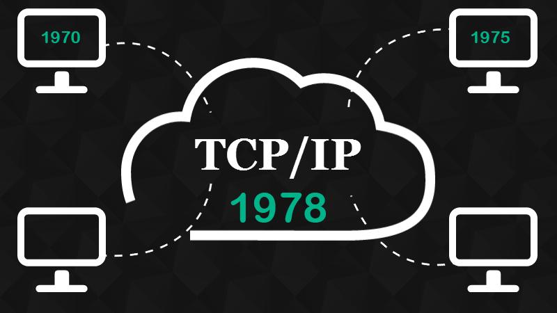 Vào năm 1978, TCP/IP được ổn định hóa và hoàn thiện