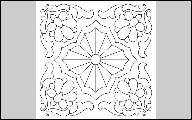 Mẫu trang trí hình vuông đơn giản 2